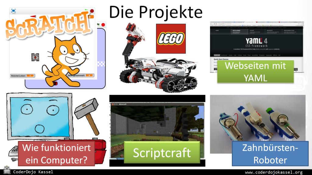 Die 6 Projekte